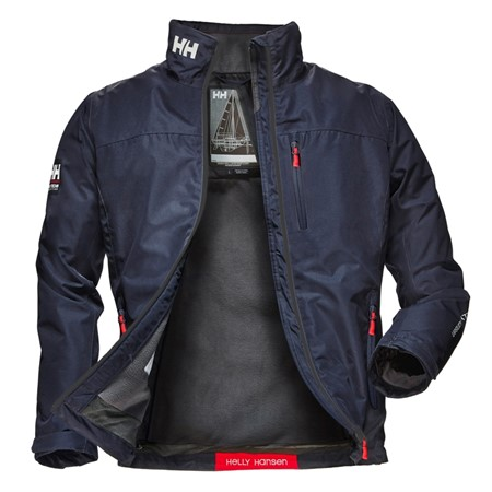HELLY HANSEN CREW MIDLAYER JACKET NAVY HERR S
